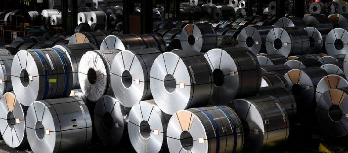 Rolos de aço em Salzgitter, Alemanha 2/3/2020 REUTERS/Fabian Bimmer